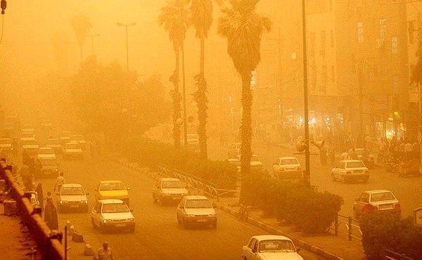 منشأ گرد و غبار شرق کشور خارجی است